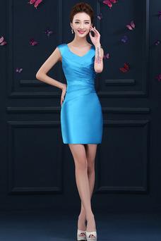Vestido de cóctel primavera Falta Blusa plisada Glamouroso Plisado Cremallera
