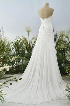 Vestido de novia Elegante Espalda Descubierta Verano Escote Corazón