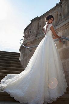 Vestido de novia Cola Capilla Sala Formal Natural Espalda Descubierta