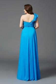 Vestido de noche Rosetón Acentuado Corte-A Rectángulo Natural Drapeado