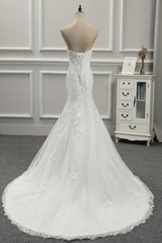 Vestido de novia Encaje Sala Rectángulo Corte Recto Espalda Descubierta