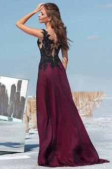 Vestido de fiesta Invierno Frontal Dividida largo Apertura Frontal Romántico