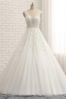 Vestido de novia Corte-A Cola Catedral Reloj de Arena Invierno Formal