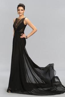 Vestido de noche Corte Sirena Cremallera Otoño Falta largo Gasa