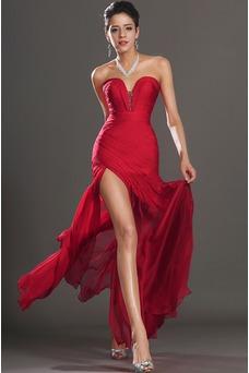 Vestido de fiesta Embarazadas Natural rubí Drapeado Lateal Sin mangas