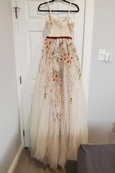 Vestido de novia Sin mangas Cremallera Natural Apliques largo Fuera de casa