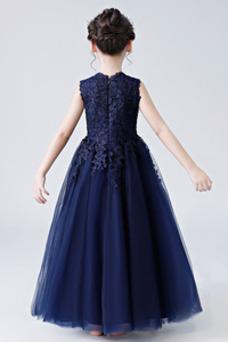Vestido niña ceremonia Oscilación Falta Natural tul Hasta el Tobillo Encaje