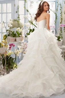 Vestido de novia Corte princesa largo Sin mangas Escote Corazón Otoño