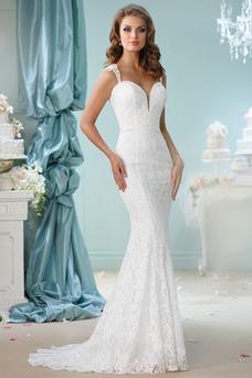 Vestido de novia Clasicos Encaje Natural Escote de Tirantes Espaguetis