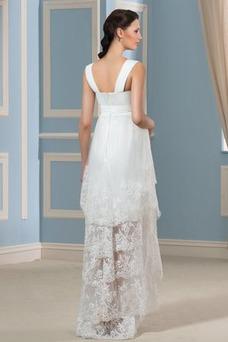 Vestido de novia Reloj de Arena Tiras anchas Fuera de casa Encaje Cremallera