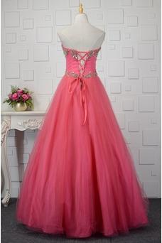 Vestido de quinceañeras Corte-A Triángulo Invertido Otoño tul Escote Corazón