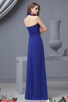 Vestido de dama de honor Hasta el suelo Elegante Espalda medio descubierto Invierno