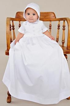 Vestido de Bautizo Botón Formal Hasta el suelo Otoño Camiseta Corte princesa