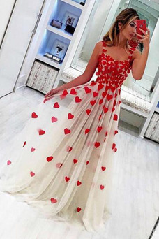 Vestido de fiesta largo Corte-A Cremallera Sin mangas Elegante Flores