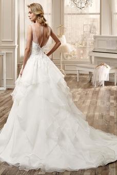 Vestido de novia Playa Asimètrico Espalda medio descubierto primavera