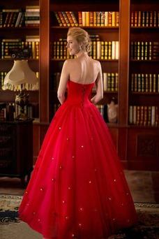 Vestido de novia primavera Natural tul Cremallera Escote Corazón Corte-A