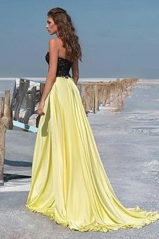 Vestido de fiesta Encaje Corte-A Falta Cola Barriba Encaje Moderno
