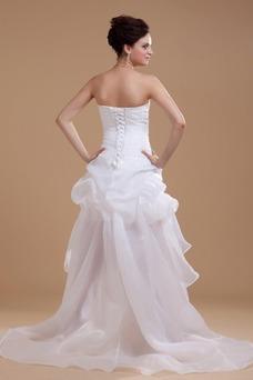Vestido de novia informales Asimètrico Falta Blanco Espalda medio descubierto
