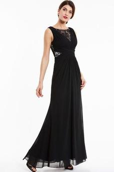 Vestido de noche Elegante Capa de encaje Apliques Natural Falta Cola Barriba