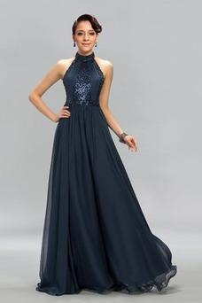 Vestido de noche Elegante Corpiño Con lentejuelas Corte-A Hasta el suelo