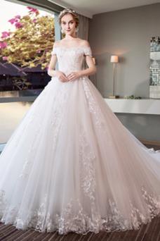 Vestido de novia Sala Manga corta Natural largo Triángulo Invertido