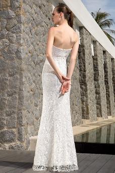 Vestido de novia Encaje Verano Natural Con Chaqueta Escote Corazón Manga corta