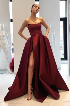 Vestido Rojos De Fiesta Sin Tirantes Baratos Online