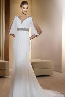 20da4412 Vestido de novia escote en v online venta - vsun.es