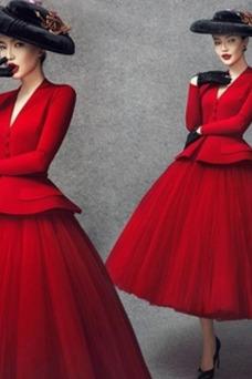 Vestido de novia Natural Cremallera Satén Escote en V Formal Drapeado