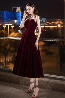 Vestido de noche primavera Escote de Tirantes Espaguetis Drapeado Natural
