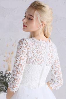 Vestido de novia Elegante Camiseta Fuera de casa Manga de longitud 3/4