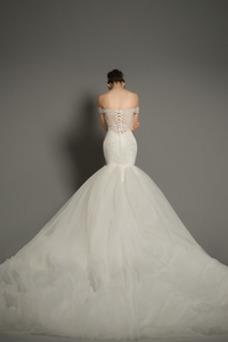 Vestido de novia Corte Sirena tul Iglesia Formal Falta Cordón