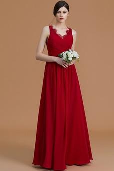 Vestido de dama de honor Escote en V Drapeado Blusa plisada primavera Elegante