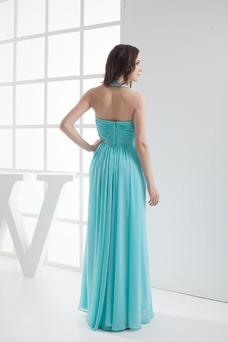 Vestido de noche Sin mangas Espalda Descubierta Hasta el suelo Cristal
