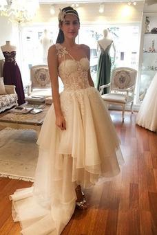 Vestido de novia Asimétrico Dobladillo Organza primavera Asimètrico