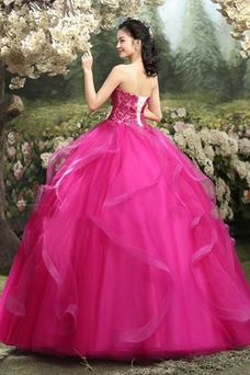 Vestido de quinceañeras Capa Multi Cordón Dobladillos Natural Hasta el Tobillo