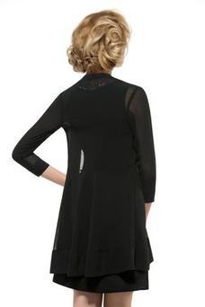 Vestido de madrina Dobladillos Gasa Joya Camiseta Corte-A Moderno