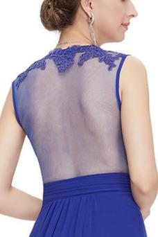 Vestido de noche Pura espalda Corte-A Natural Invierno largo Blusa plisada