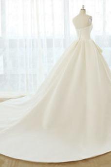 Vestido de novia Tallas grandes Cordón Natural Escote Corazón Otoño