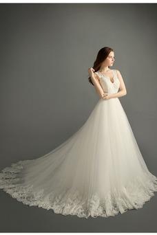 Vestido de novia Satén Apliques Natural Iglesia Cremallera Formal