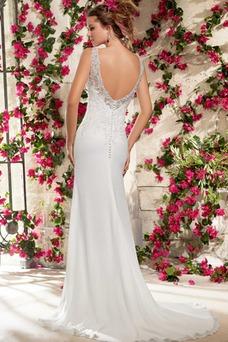 Vestido de novia Escote de Tirantes Espaguetis Espalda medio descubierto