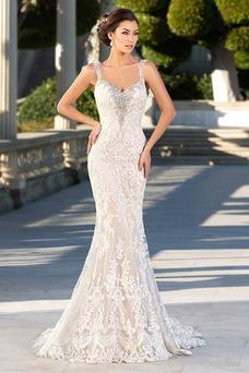Vestido de novia Moderno Espalda Descubierta Corte Sirena tul primavera