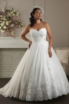 Vestido de novia Formal Cola Capilla Sala Escote Corazón Cordón Bola