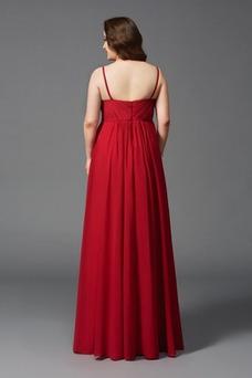 Vestido de noche Corte-A Gasa Abalorio Hasta el Tobillo Blusa plisada