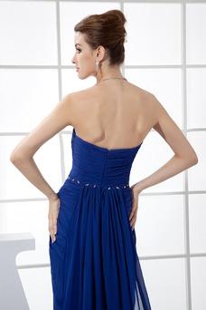 Vestido de fiesta Corte-A Gasa Falta Moderno Natural Abalorio