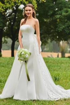 Vestido de novia Encaje Espalda Descubierta Moderno largo Sin tirantes