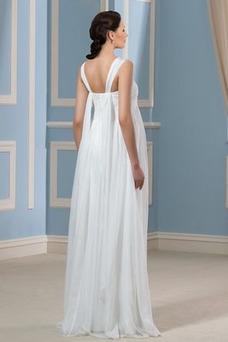 Vestido de novia Elegante Otoño Embarazadas Gasa Tiras anchas Imperio