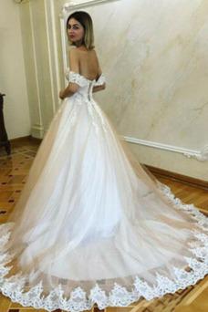 Vestido de novia Romántico Espalda Descubierta Natural Escote con Hombros caídos