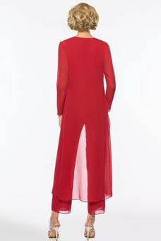 Vestido de madrina Camiseta Falta Verano Cremallera Gasa Natural