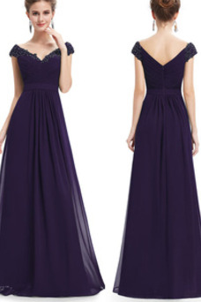 Vestido de noche Tallas grandes Escote en V Capa de encaje Corte-A Formal